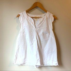 Anthropologie Maeve Scalloped Shirt